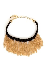 Gold-fringe-er Braided Friendship Bracelet at Lulus.com!