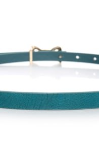 Rock the Bow-t Skinny Blue Bow Belt