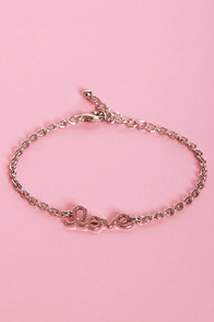 Heart on a String Silver Love Bracelet at Lulus.com!