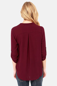 V-sionary Wine Red Top at Lulus.com!