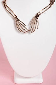 Wildfox Bone to Pick Rose Gold Collar Necklace at Lulus.com!