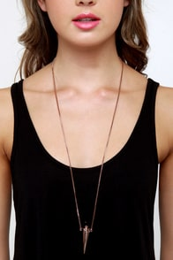 Wildfox Poison Vial Rose Gold Necklace at Lulus.com!