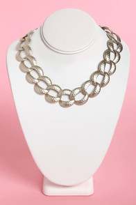 Chainy Day Silver Chain Collar Necklace at Lulus.com!