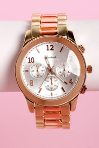 All In the Wrist Rose Gold Watch at Lulus.com!
