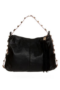 All the Extras Studded Black Handbag
