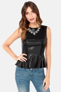 Redwood Original Black Vegan Leather Top
