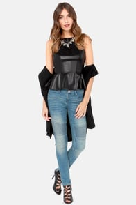 Redwood Original Black Vegan Leather Top at Lulus.com!