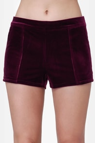 Lucca Couture I'll Be There Burgundy Shorts at Lulus.com!
