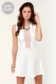 LULUS Exclusive Cut It Out Ivory Dress at Lulus.com!