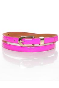 Beyond Neon Magenta Skinny Belt