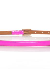 Beyond Neon Magenta Skinny Belt at Lulus.com!