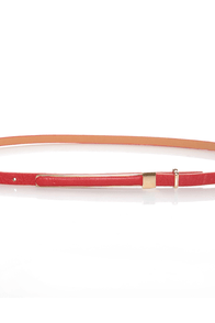 Pillow Skinny Red Belt at Lulus.com!