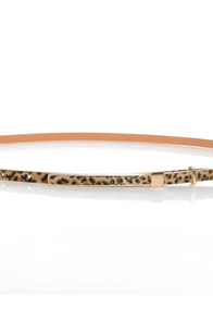 Pillow Skinny Animal Print Belt