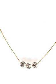 Girl's Best Friend Gold Rhinestone Necklace at Lulus.com!