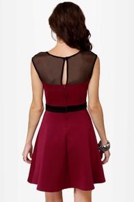 Spin Doctor Burgundy Dress at Lulus.com!