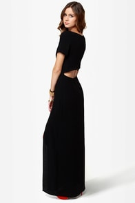 Don't Call It a Comeback Black Maxi Dress at Lulus.com!