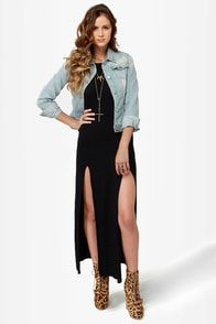 Down to There Backless Black Maxi Dress at Lulus.com!
