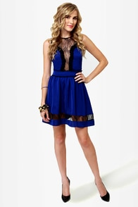 Yes We Can-Can Blue Lace Dress