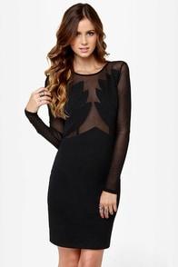 Dance the Black Swan Cutout Black Dress at Lulus.com!