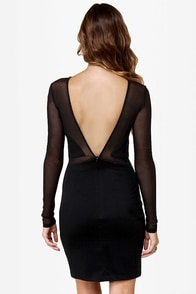Dance the Black Swan Cutout Black Dress at Lulus.com!