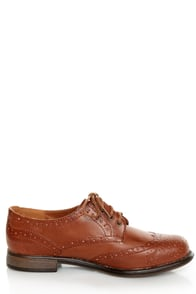 Dollhouse Trickster Chestnut Brogue Lace-Up Oxfords at Lulus.com!