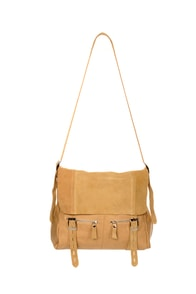 All Aboard Beige Messenger Bag
