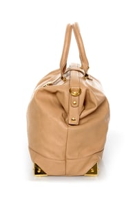What's Up, Doc? Beige Handbag at Lulus.com!