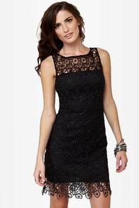 BB Dakota Morrow Black Lace Dress