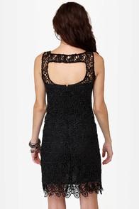 BB Dakota Morrow Black Lace Dress at Lulus.com!