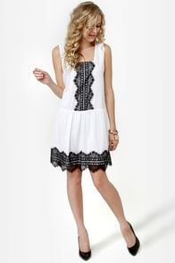 Good and Twenties White Lace Dress at Lulus.com!