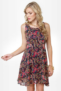 The Good Ol' Pais Floral Print Dress at Lulus.com!