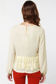 Laced Resort Cream Lace Top at Lulus.com!