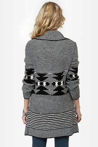Wish Me Well Black and Ivory Wrap Sweater at Lulus.com!