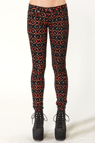Hurley 81 Ikat Print Skinny Jeans at Lulus.com!
