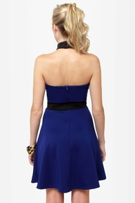 Complementary Collars Blue Halter Dress at Lulus.com!