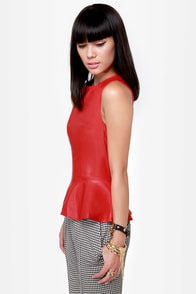 Redwood Original Red Vegan Leather Top at Lulus.com!