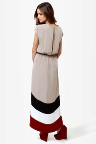 LULUS Exclusive Perfect Pitch Taupe High-Low Wrap Dress at Lulus.com!