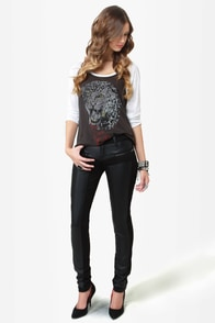 Tripp NYC Dragon Black Skinny Jeans