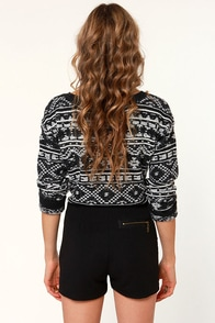 Hip to the Zip Black Shorts at Lulus.com!
