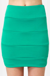 It's Electrifying Sea Green Mini Skirt at Lulus.com!