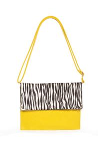 Safari Chic Yellow Animal Print Clutch