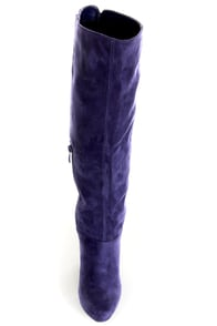 Ardiente Sole Freedom Plum Purple Platform Knee High Boots at Lulus.com!