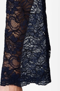 Like a Charm Navy Blue Lace Dress at Lulus.com!