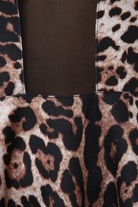 Girl vs. Wild Cutout Leopard Print Dress at Lulus.com!