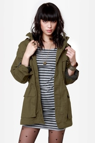 Major Cool Hooded Military Jacket at Lulus.com!