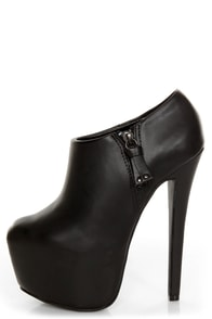 Shoe Republic LA Altitude Black Super Platform Booties