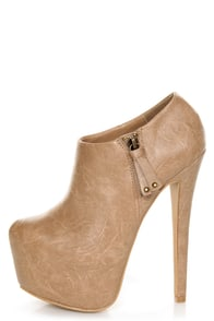 Shoe Republic LA Altitude Nude Super Platform Booties