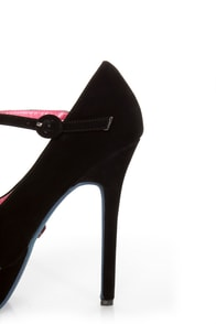 Promise Goodness Black Mary Jane Power Platform Pumps at Lulus.com!