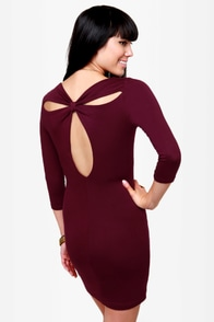 Meet and Greet Burgundy Dress