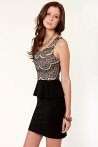 Tempting Fete Black Lace Dress at Lulus.com!